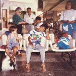 La Familia Fernández Cortes en el terminal de buses de Villavicencio